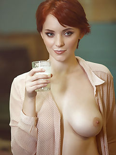 Russian redhead nude busty