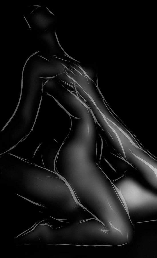 Black and white couples having sex art