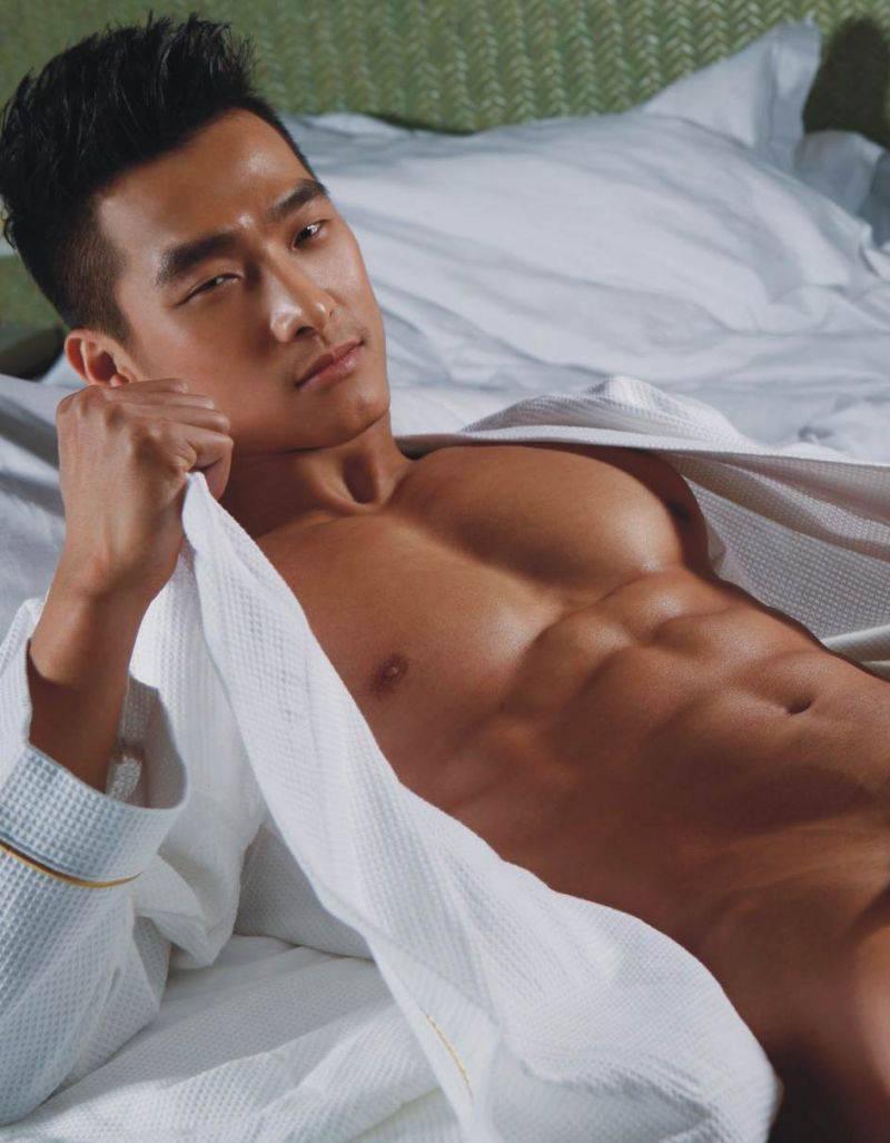 Manly asian naked nude