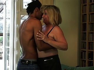 Black boy with mature white woman