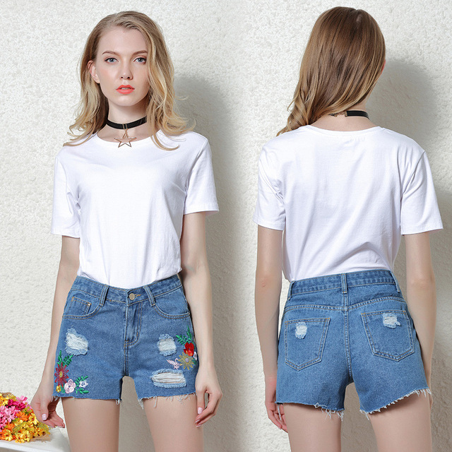 Young teen jean shorts