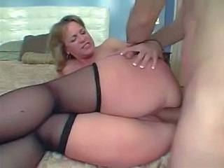 Mature stocking big ass