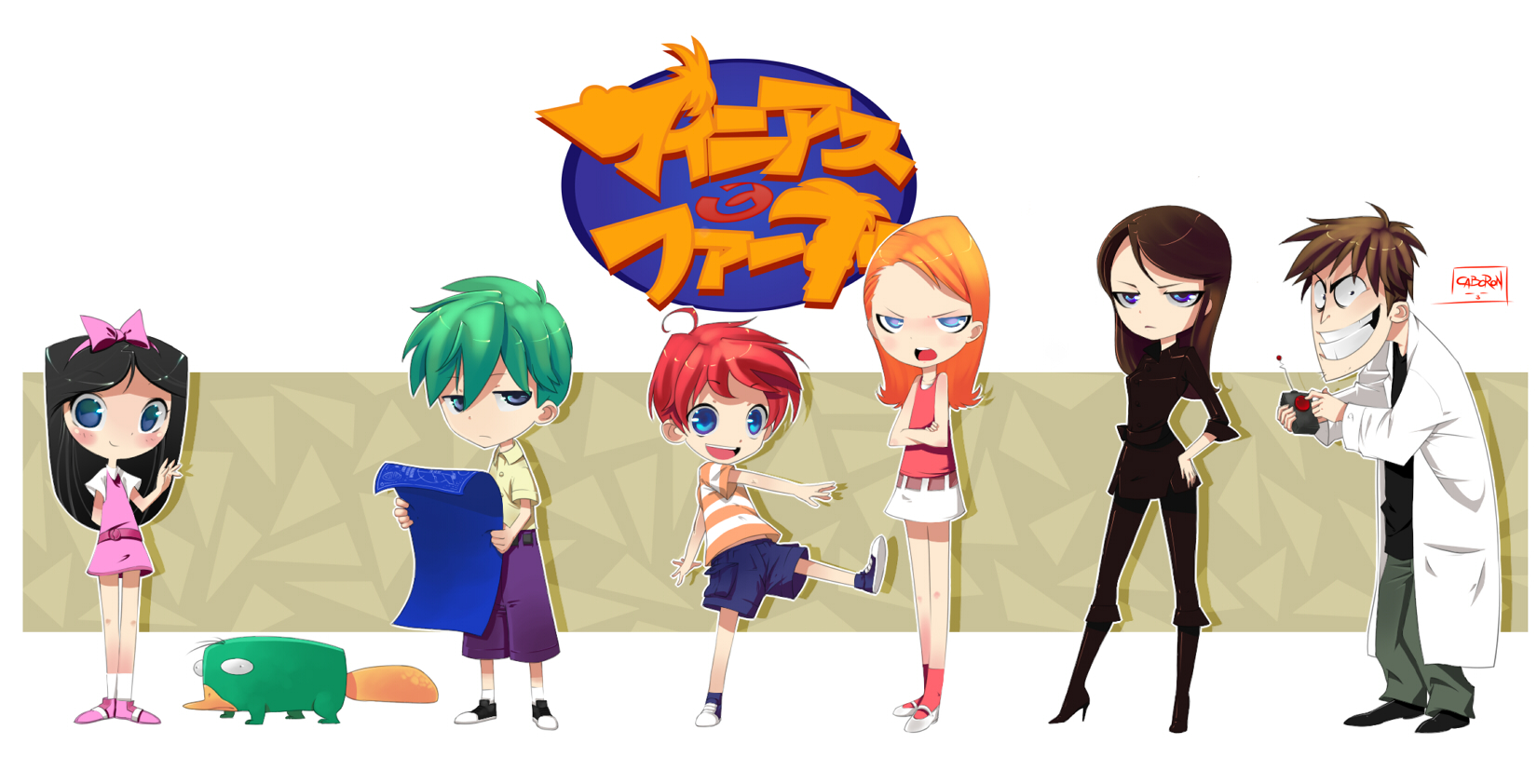 Phineas and ferb anime