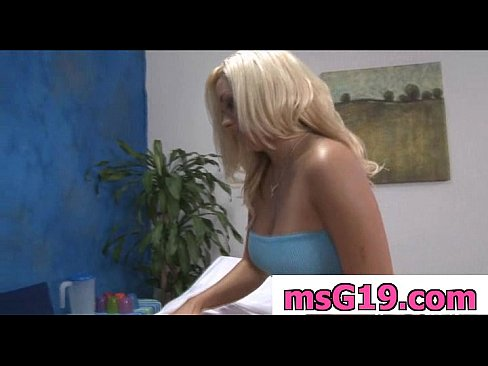 Gorgeous blonde gets fucked hard