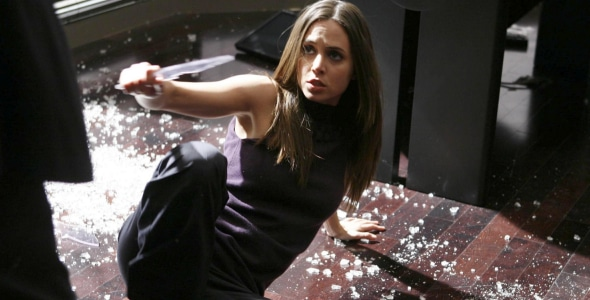 Eliza dushku in leather as dollhouse dominatrix