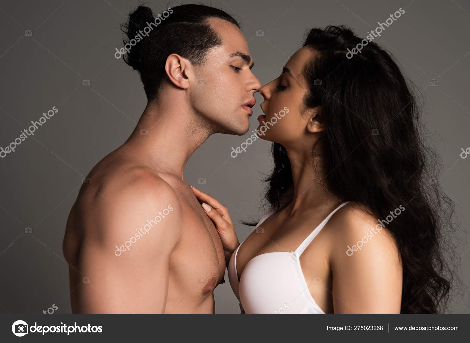 Sexy not men making out