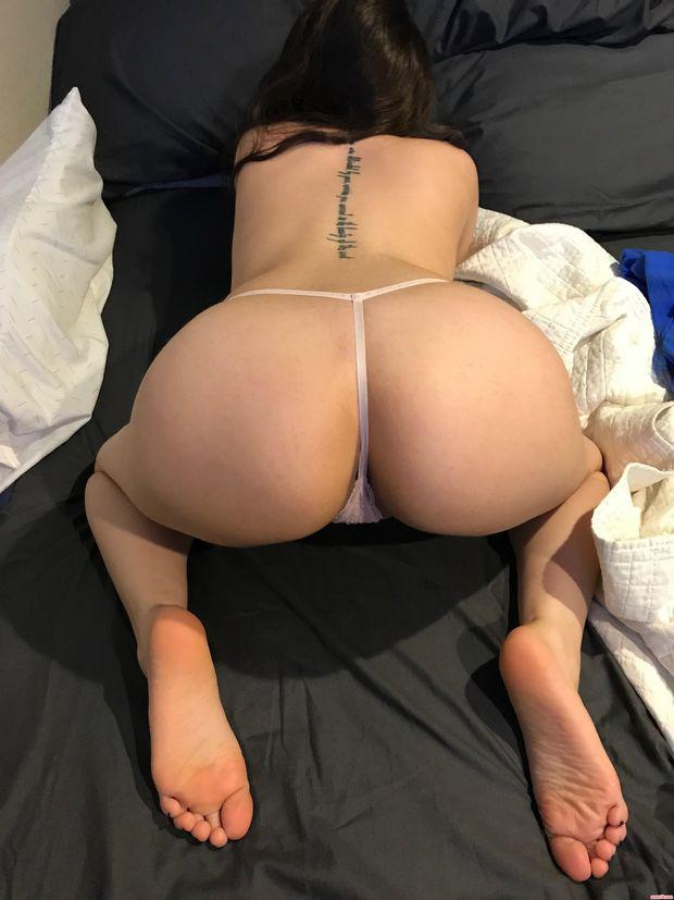 Ass pussy panties to the side