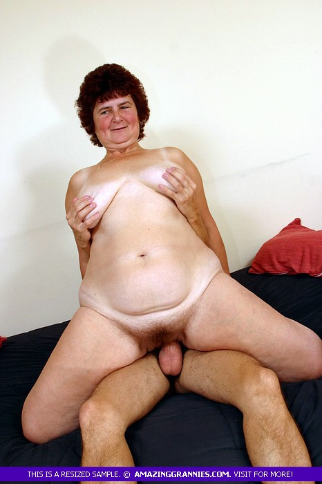 Granny showing naked body