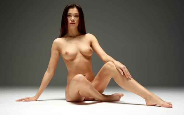 Nude brunette perfect body babe