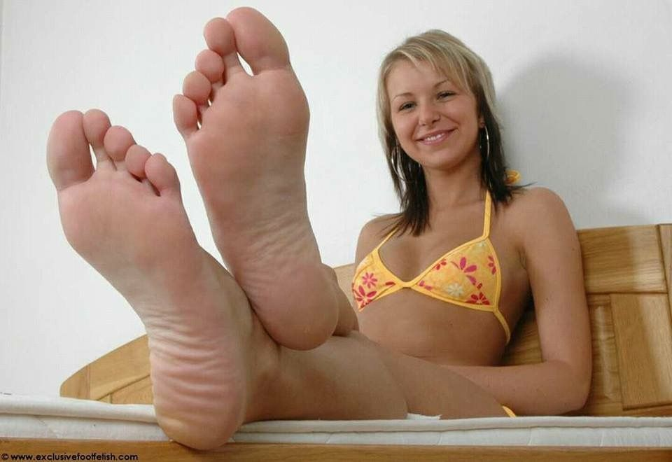 Girls showing their feet