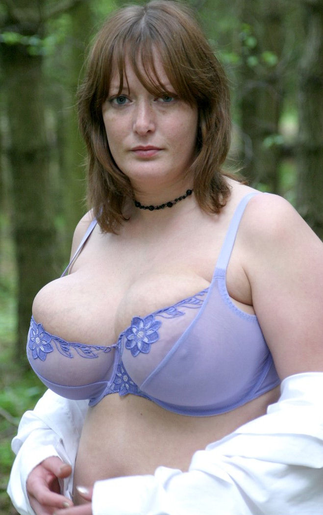 Mature boobs see through bra