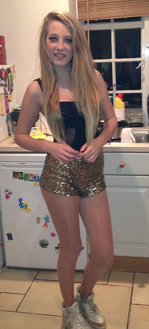 Girl teen barely poses dressed
