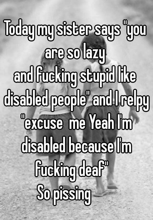 Disabled people fucking pics