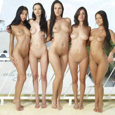 Naked asian group nude girls