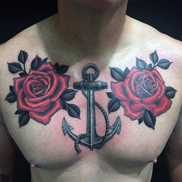 For flower chest men tattoos