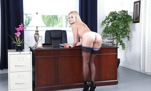 Thigh white stockings high and black