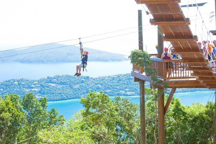Zip line britsh virgin islands