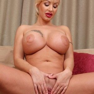 Sexy oiled blond girl naked