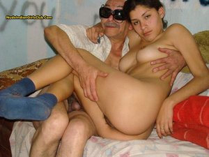 Indian nude with old man