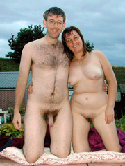 Mature married couple naked