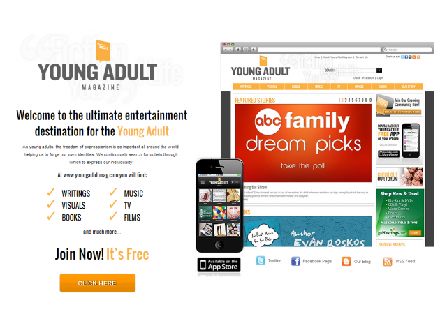 Web site for young adult