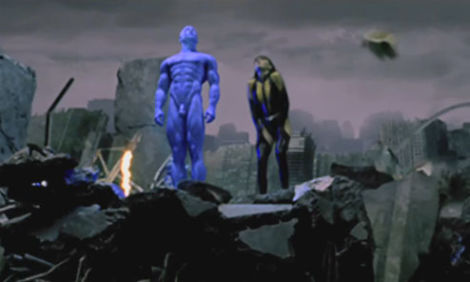 The blue penis in watchmen