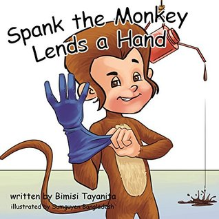 The monkey but spank the