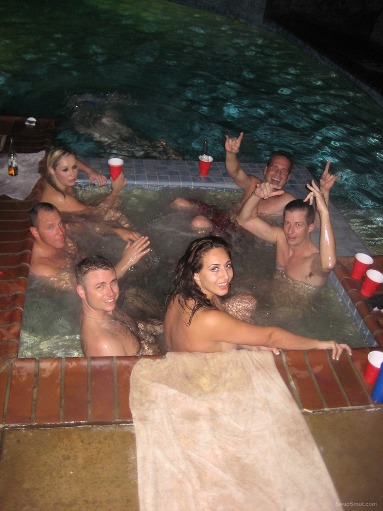 Wild hot tub sex party