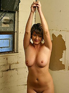 Girls topless with arms over head