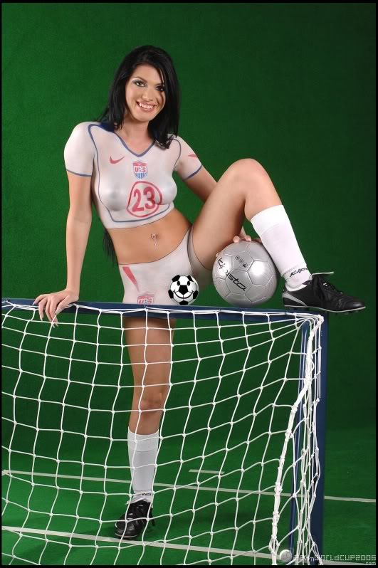 Sexy body paint soccer