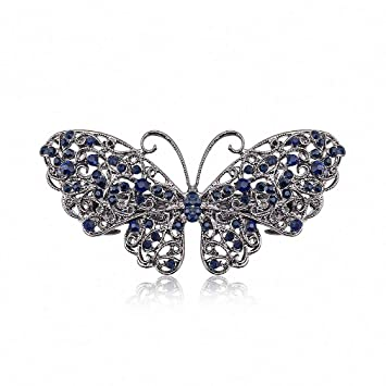 Vintage silver butterfly hair