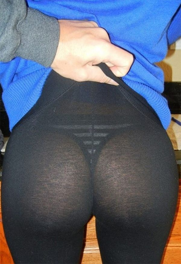 Yoga tight through see girls in pants
