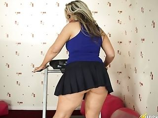 Big ass mini skirt upskirt
