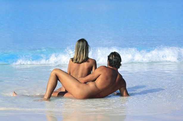 Girl holding erection nude beach