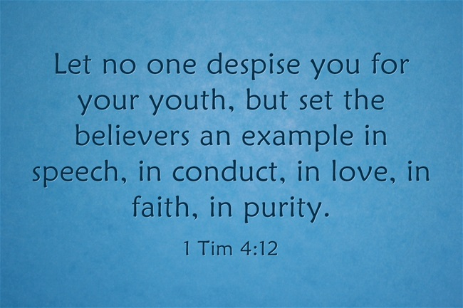 Bible verse for young adults