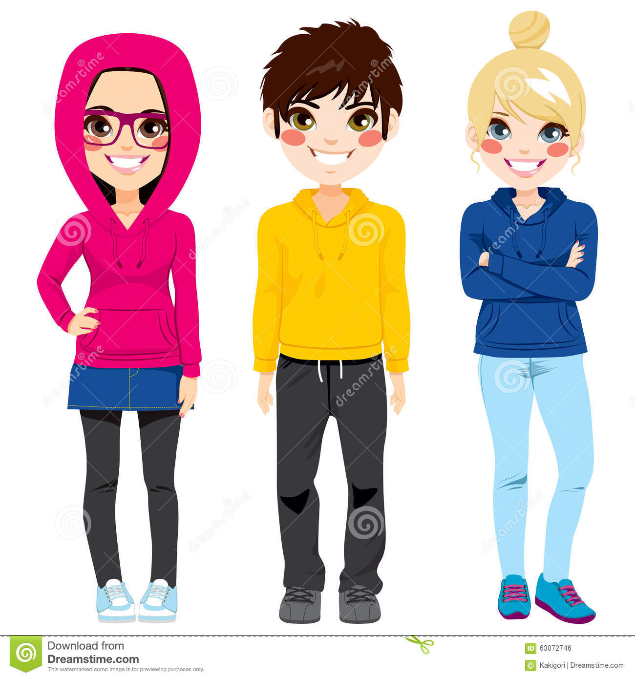 Colorful outfits for teen girls