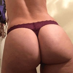 Mature hairy pussy panties aside