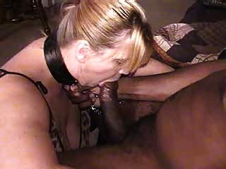 Collared leashed slave training