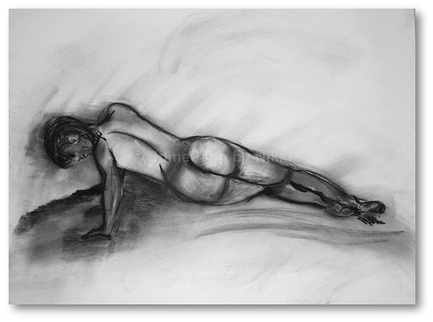 Pencil drawings of naked women
