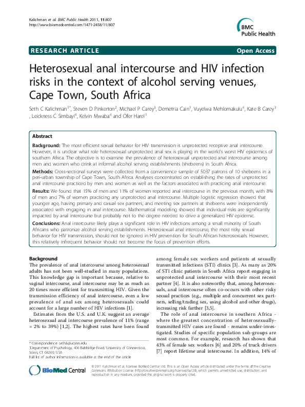 Cultural factors that cause heterosexual anal intercourse