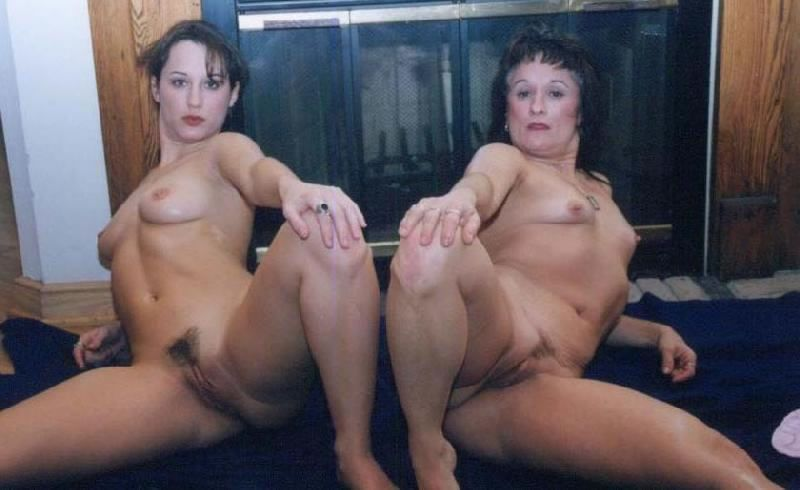 Naked woman and son having sex