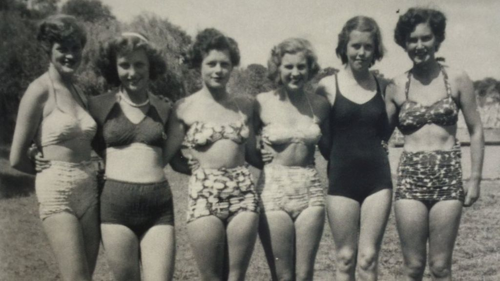 Vintage family nudist camp girls