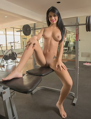 Sexy nude women working out