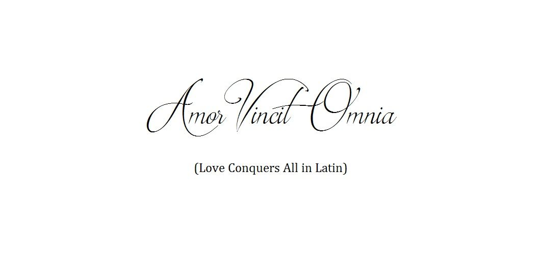 Love conquers all latin
